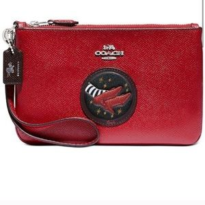 COACH Red Ruby Slippers Wizard of Oz Wristlet